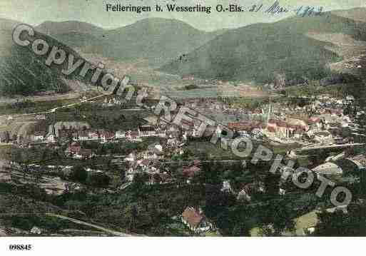 Ville de FELLERING, carte postale ancienne