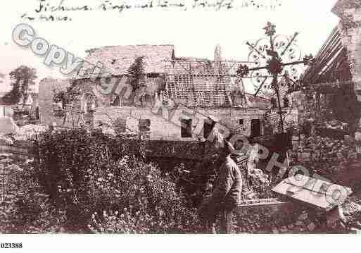 Ville de Ficheux, PH035487-C. Photographie tirée d'une carte postale ancienne