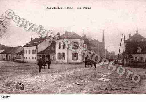 Ville de NAVILLY, carte postale ancienne