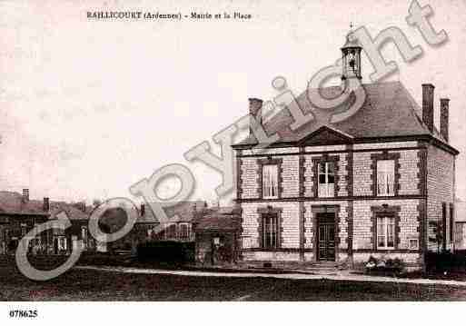 Ville de RAILLICOURT, carte postale ancienne