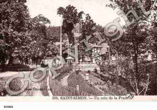 Ville de SAINTSIMON, carte postale ancienne