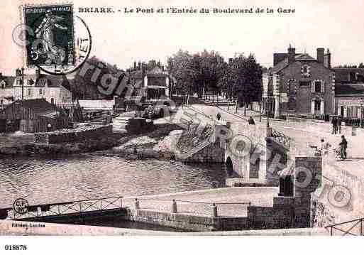 Ville de BRIARE, carte postale ancienne