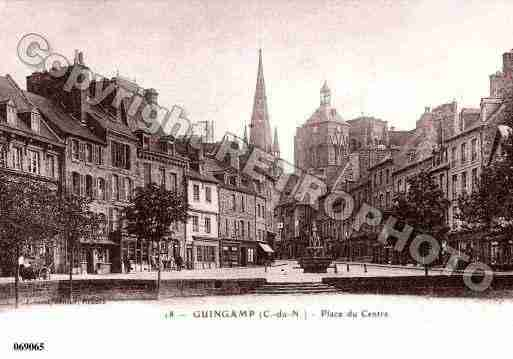 Ville de GUINGAMP, carte postale ancienne