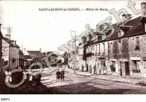 Ville de SAINTLAURENTDECONDEL, carte postale ancienne