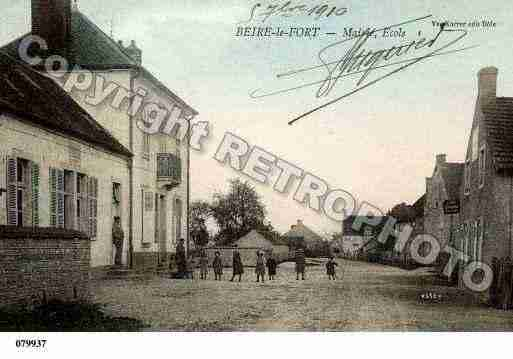 Ville de BEIRELEFORT, carte postale ancienne