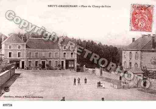 Ville de NEUVYGRANDCHAMP, carte postale ancienne