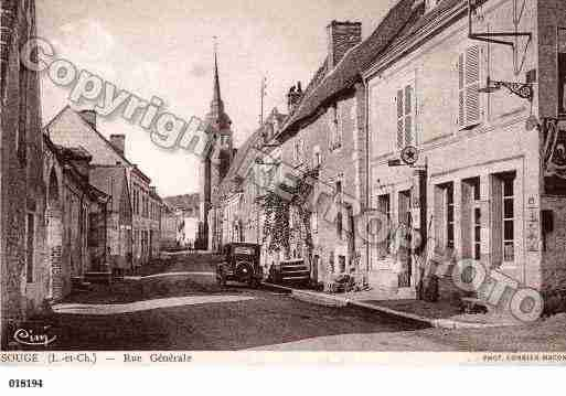 Ville de SOUGE, carte postale ancienne
