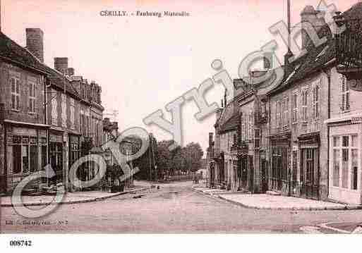 Ville de CERILLY, carte postale ancienne