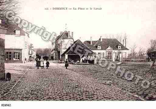 Ville de DORNECY, carte postale ancienne