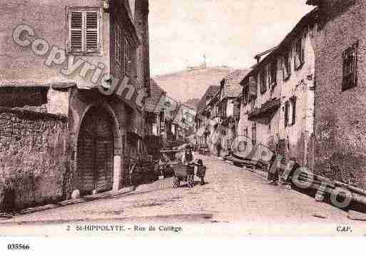 Ville de SAINTHIPPOLYTE, carte postale ancienne