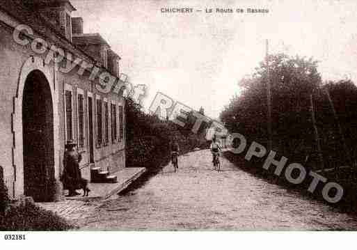 Ville de CHICHERY, carte postale ancienne