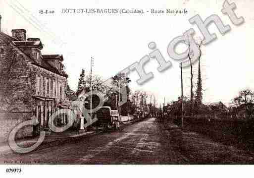 Ville de HOTTOTLESBAGUES, carte postale ancienne