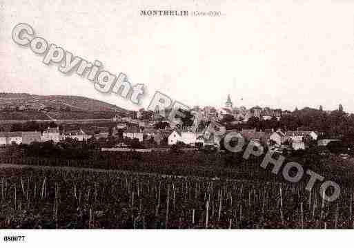 Ville de MONTHELIE, carte postale ancienne
