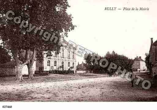 Ville de RULLY, carte postale ancienne