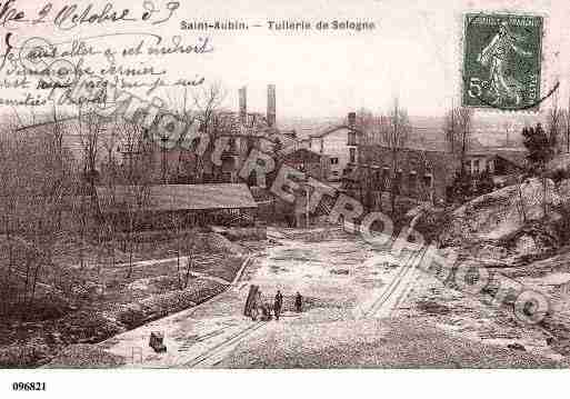 Ville de SAINTAUBINSURYONNE, carte postale ancienne