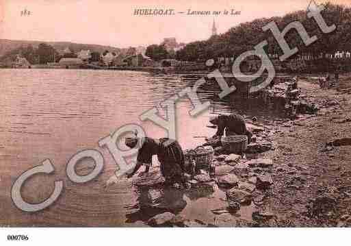 Ville de HUELGOAT, carte postale ancienne