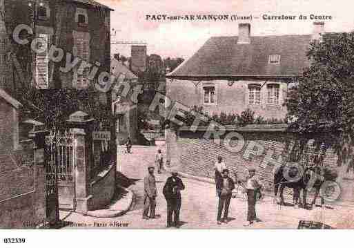 Ville de PACYSURARMANCON, carte postale ancienne
