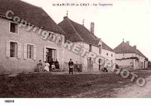 Ville de SAINTMARCELINDECRAY, carte postale ancienne