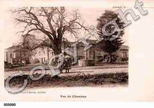 Ville de CHAMBONSURDOLORE, carte postale ancienne