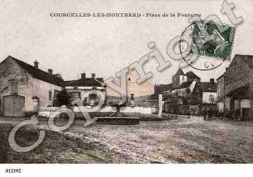 Ville de COURCELLESLESMONTBARD, carte postale ancienne