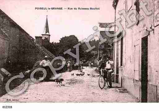 Ville de POISEULLAGRANGE, carte postale ancienne