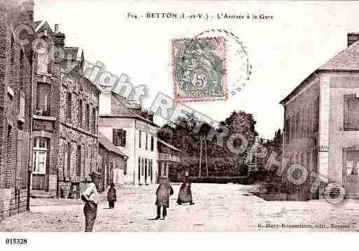 Ville de BETTON, carte postale ancienne