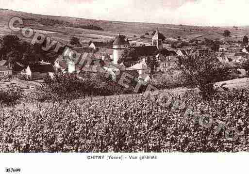 Ville de CHITRY, carte postale ancienne