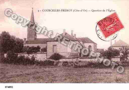Ville de COURCELLESFREMOY, carte postale ancienne