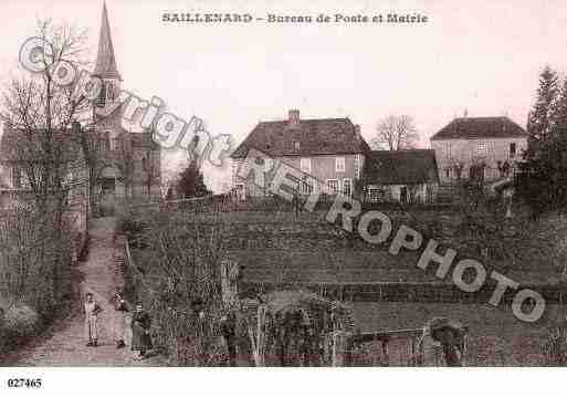 Ville de SAILLENARD, carte postale ancienne