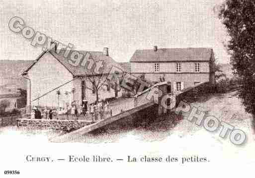 Ville de CURGY, carte postale ancienne