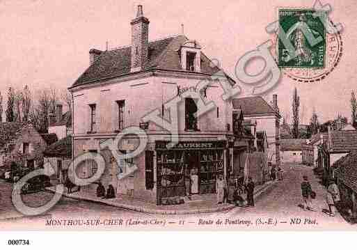 Ville de MONTHOUSURCHER, carte postale ancienne