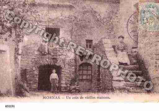 Ville de MORNAS, carte postale ancienne