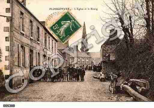 Ville de PLOUGONVER, carte postale ancienne