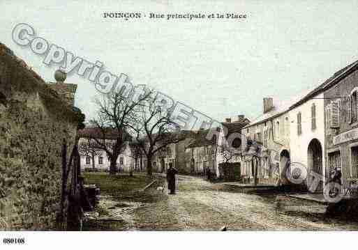 Ville de POINCONLESLARREY, carte postale ancienne