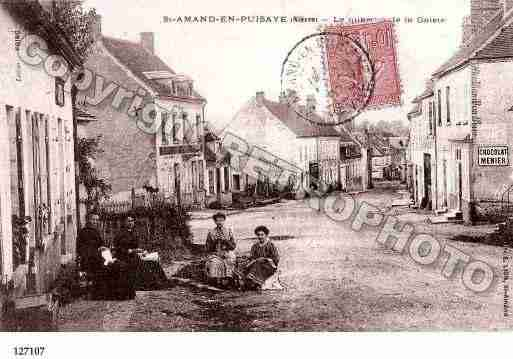 Ville de SAINTAMANDENPUISAYE, carte postale ancienne