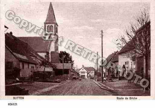 Ville de BUTTEN, carte postale ancienne