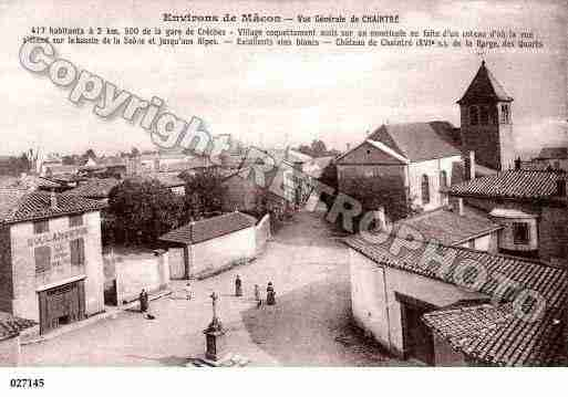 Ville de CHAINTRE, carte postale ancienne
