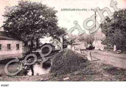 Ville de LONGCHAMP, carte postale ancienne