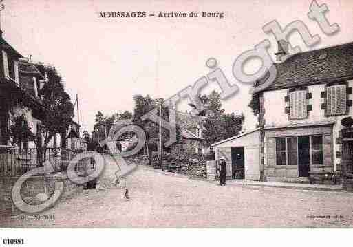 Ville de MOUSSAGES, carte postale ancienne