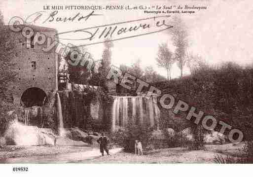 Ville de PENNED'AGENAIS, carte postale ancienne