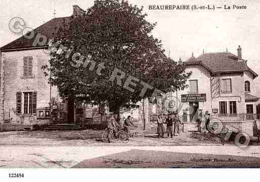 Ville de BEAUREPAIREENBRESSE, carte postale ancienne