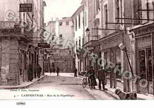 Ville de CARPENTRAS, carte postale ancienne