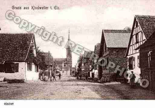 Ville de KINDWILLER, carte postale ancienne
