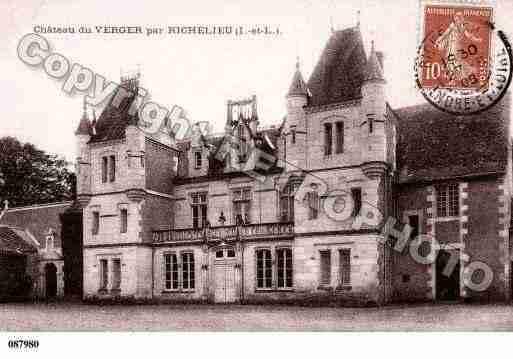 Villes et villages en cartes postales anciennes .. - Page 41 Photos-carte-richelieu-indre-et-loire-PH026797-C