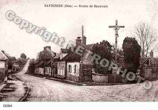 Ville de SAVIGNIES, carte postale ancienne