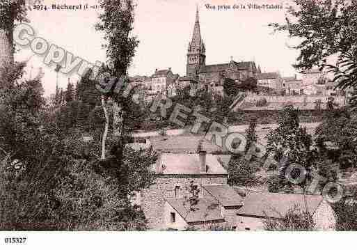Ville de BECHEREL, carte postale ancienne