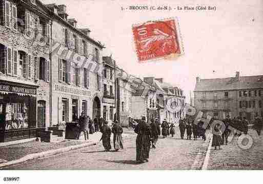 Ville de BROONS, carte postale ancienne