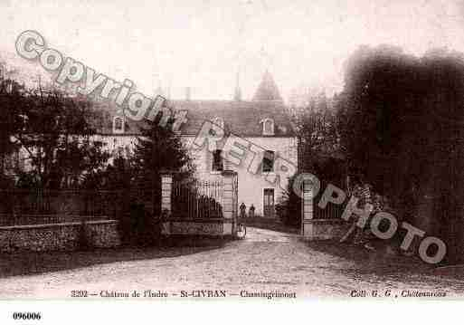 Ville de SAINTCIVRAN, carte postale ancienne
