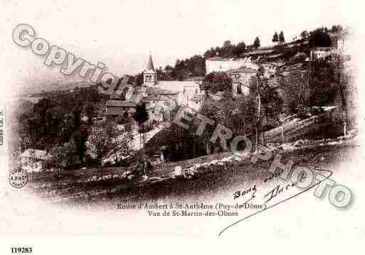 Ville de SAINTMARTINDESOLMES, carte postale ancienne