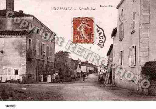 Ville de CLERMAIN, carte postale ancienne